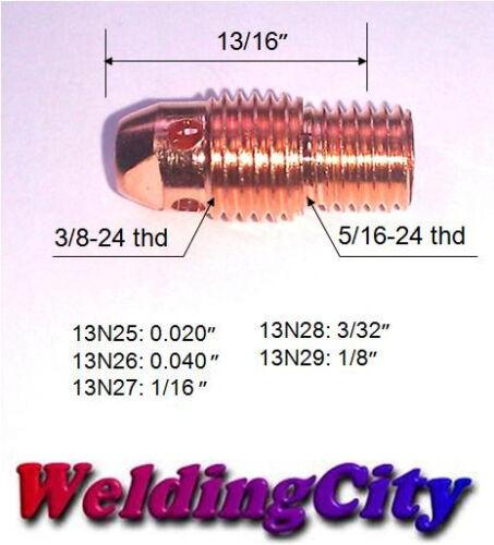 """WeldingCity 5-pk Collet Body 13N25 .020/"""" TIG Welding Torch 9//20//25US Seller"""