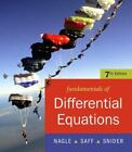 Fundamentals of Differential Equations by Arthur David Snider, Edward B. Saff and R. Kent Nagle (2007, CD-ROM / Paperback)