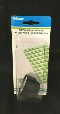 "Philmore PS3 Electronic Audio Buzzer 30-120VAC//DC 4-18mA 1.125/"" dia 80-95DB Cont"