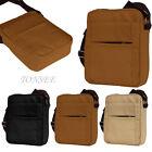 New Men Vintage Canvas Leather Shoulder Bag Satchel Military Messenger Retro Bag
