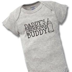 510c289836a0 Daddy s Drinking Buddy Onesie Baby Gift Funny Cute Dad Father Boy ...