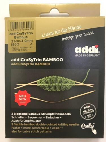 Addi Crasy Trio 3-piece addiCraSyTrio BAMBOO Needle Set