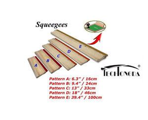 33cm Water Squeegee - 65 Durometer 13 inch Silk Stencil Screen Printing Squeegee Wood Screen Ink Scraper