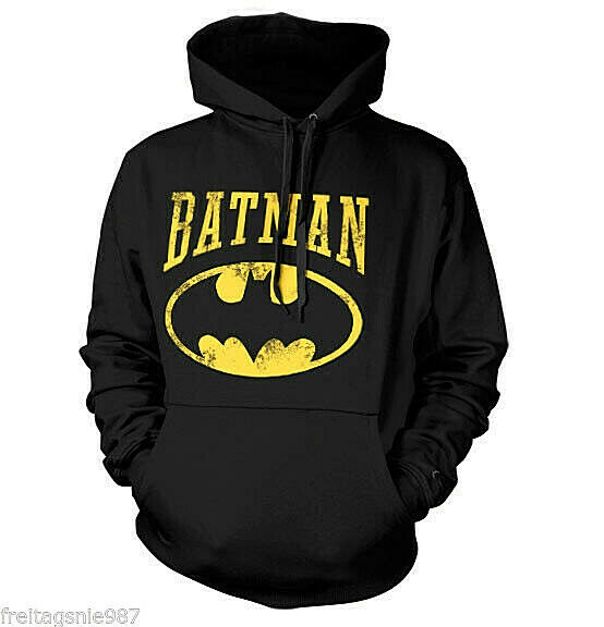 BATMAN  VINTAGE Logo hooded sweat-shirt cotton officially licensed