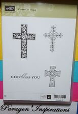 Retired Stampin Up CROSSES OF HOPE Clear Mount Stamps Faith God Bless You Easter