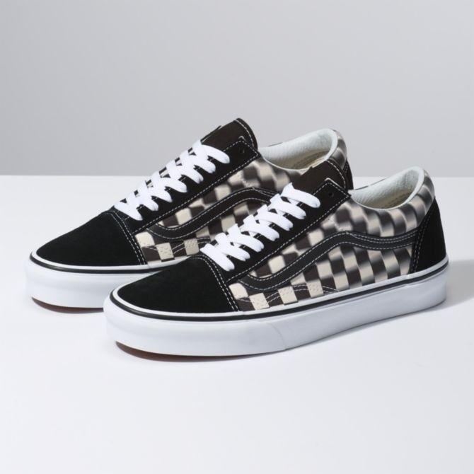 Vans ua Old Skool Blur kariert schwarz weiß Herren Lifestyle Sneaker Skate vn0a38g1vjm