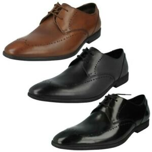CLARKS Prangley Limit Black Leather Men/'s Brogues Smart Shoes  UK 9// 10 RRP £85