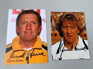 2-x-GERD-ZEWE-WM-1978-DFB-signed-Autogrammkarte-10x15-signiertes-Foto