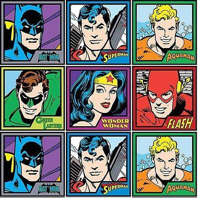DC Comics Justice League Batman Superman Panel 100% Cotton Fabric