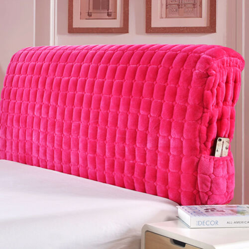 Brush Warmth Dustproof Bed Headboard Covers Bedspread Slipcover Queen King Sizes