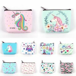 Women-Mini-Unicorn-Coin-Purse-Flamingo-Wallet-Card-Holder-Earphone-Package-Bags