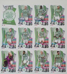 2020/21 Match Attax UEFA Champions League - Celtic team set (12 cards)