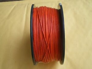 STAINLESS STEEL ORANGE WIRE LEADER 300 FEET/90 LBS TEST 1X7 STRAND+100 SLEEVES