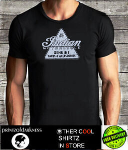MENS INDIAN MOTORCYCLES  BLACK T Shirt  S M L XL XXL  Vintage Logo FREE POST