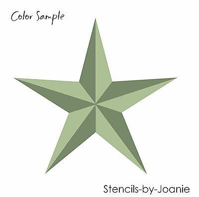 """Designs by Joanie STENCIL 3"""" Folk Art Barn Star Nautical Country Western Signs"""