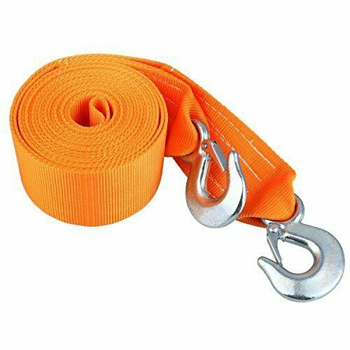 6M 8T Heavy Duty Tow Rope Towing Pull Strap Road Car Van Recovery W//Two Shackles