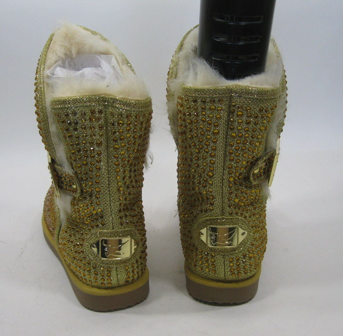 New ladies Urban Glitter Gold Boot Rhinestones Winter Ankle Sexy Boot Gold Größe  7.5 c68ad6