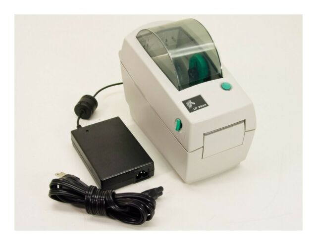 Zebra LP2824 2824 RJ45 Network Only Label Thermal Printer with Power Supply
