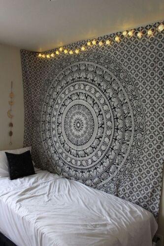 Hippie Mandala Tapestry Wall Hanging Ethnic Bohemian Dorm Room Decor Bedspread