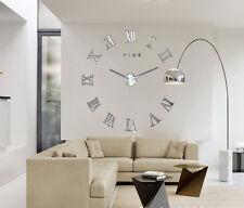 Hot Modern Art Diy Large Wall Clock Sticker Kit Design Home Office Room Decor Gl
