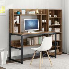 Computer Desk Pc Laptop Table Study Workstation Home Office Bookshelf Furniture