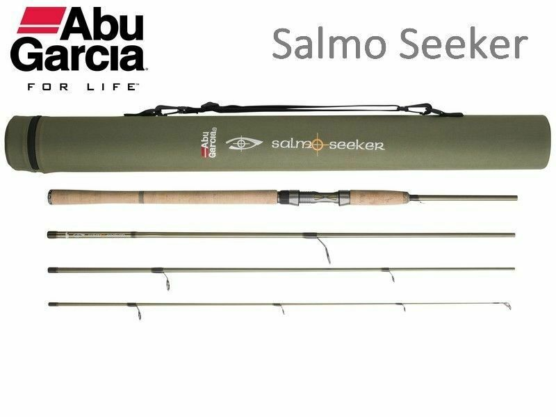 Abu Garcia SALMO SEEKER Carbon Travel Spinning Rod  4PC + Hard Carry Case   Tube  supply quality product
