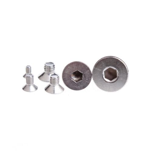 3 Pcs Stainless Steel Countersunk Head Socket Cap Screws Thread M8 30mm Long