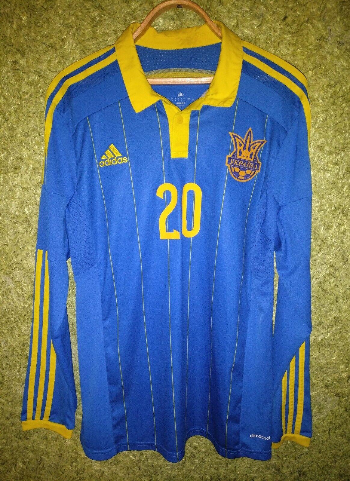 Ukraine National Team Jersey 2014 2015 Away Sleeve Player Issue Long Sleeve Away Shirt Sz L 8706ba
