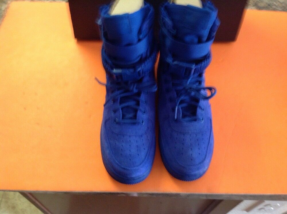 Nike SF Air Force 1 Mens 864024-401 Game Royal blueee Nylon Suede shoes Size 9