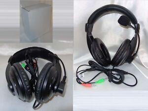 Stereo-Headset-Mic-PC-Notebook-VOIP-SKYPE-MSN-CHAT-MULTIPLAYER-Kopfhoerer-Black