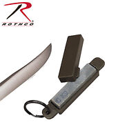 Military Od Knife Sharpening Stone W/ Key Ring - Sharpen Knives On The Go