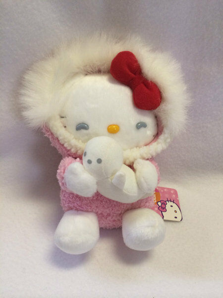 NWT Sanrio Claire's Exclusive Exclusive Exclusive Hello Kitty Plush Doll Pink Parka White Seal 2004 e3c992
