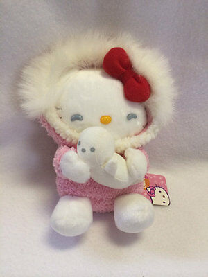 NWT Sanrio Claire's Exclusive Hello Kitty Plush Doll Pink Parka White Seal 2004