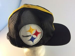 8ae2056e Image is loading Vintage-PITTSBURGH-STEELERS-helmet-cap-hat-snapback-NFL-