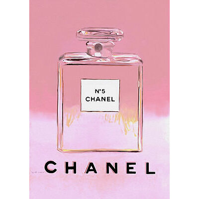 Chanel Vintage Poster Warhol. Chanel No5 No 5 Pink Print Poster Canvas (pcint)