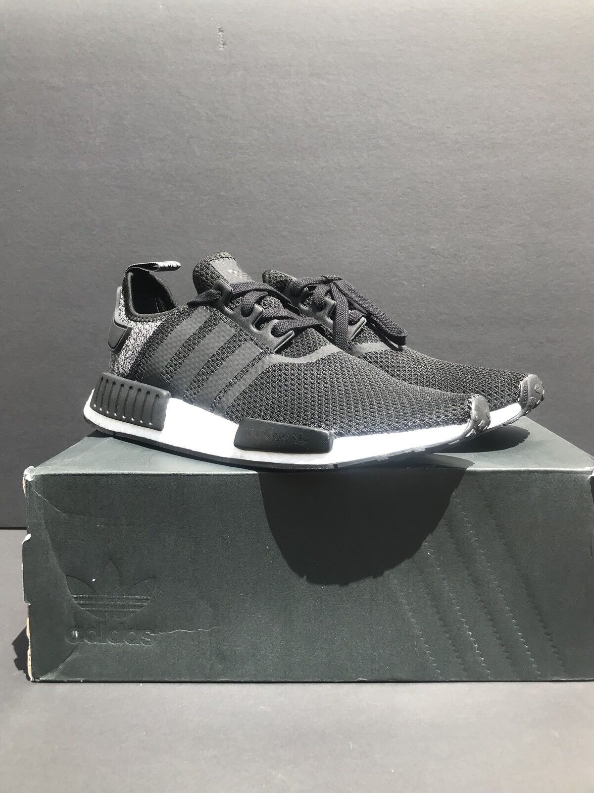 New New New Adidas NMD R1 Black Grey Wool Mesh Black shoes Size 9.5. DB0544 536974
