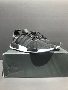 023f4558c New Adidas NMD R1 Black Grey Wool Mesh Black shoes Size 9.5. DB0544 ...
