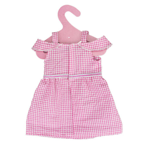 Cute Pink Plaid Sleeveless Skirt Accessory for 18inch AG American Doll Doll