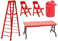 10 Red Ultimate Tlc Playset Deal - Wrestling Figure Accessories (new) Wwe/tna