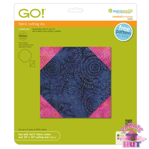 "Accuquilt GO! & GO! Big 6"" Snowball Block Fabric Cutting Die 55330"