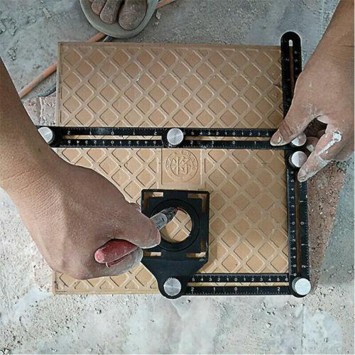 Six-fold Tool Ruler Drill Guide Opening Ceramic Tile Hole Locator Kit Adjustable
