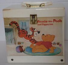 Vintage Winnie The Pooh 45's Record Case With Handle