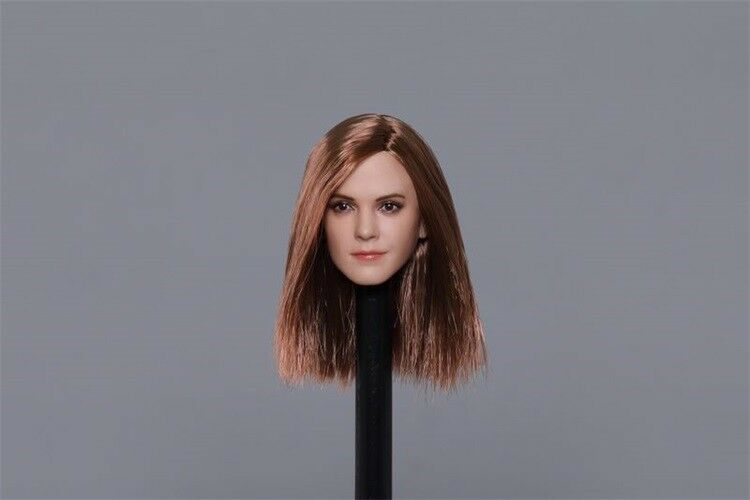 1 6 European Beauty Beauty Beauty Girl Emma Watson Head Carving Fit 12'' Action Figure 322ed3