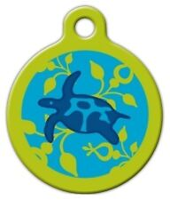 Custom Personalized Pet ID Tag for Dog Cat Collars DOWN UNDER LUPINE PATTERN