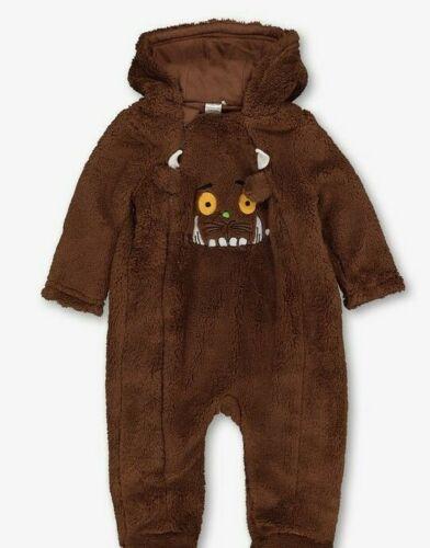 BNWT Baby Boys Soft Warm Hooded Fleece GRUFFALO All In One Pramsuit Snowsuit
