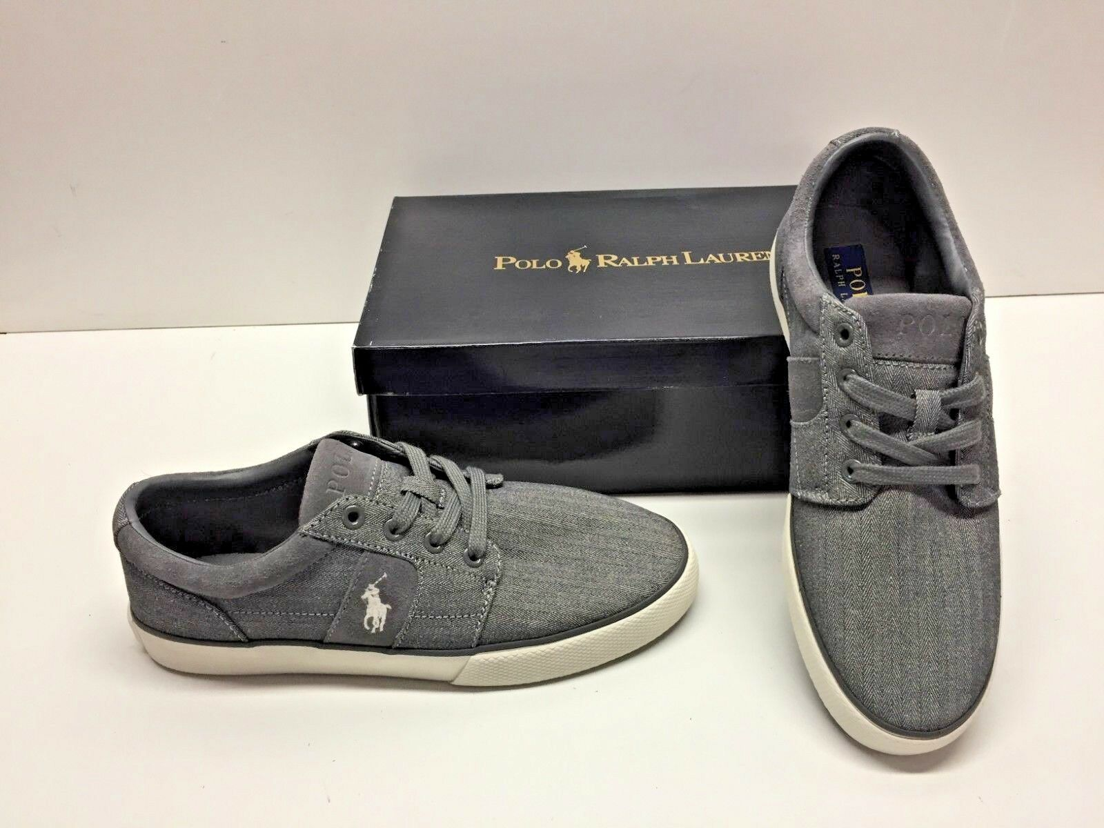 Ralph Lauren Polo Halmon II Textile Tweed Casual Fashion  Shoes Uomo 7.5