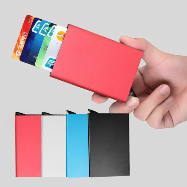 Men Anti Rfid Bank Card Holder Case Automatic Credit Business Cards Protector