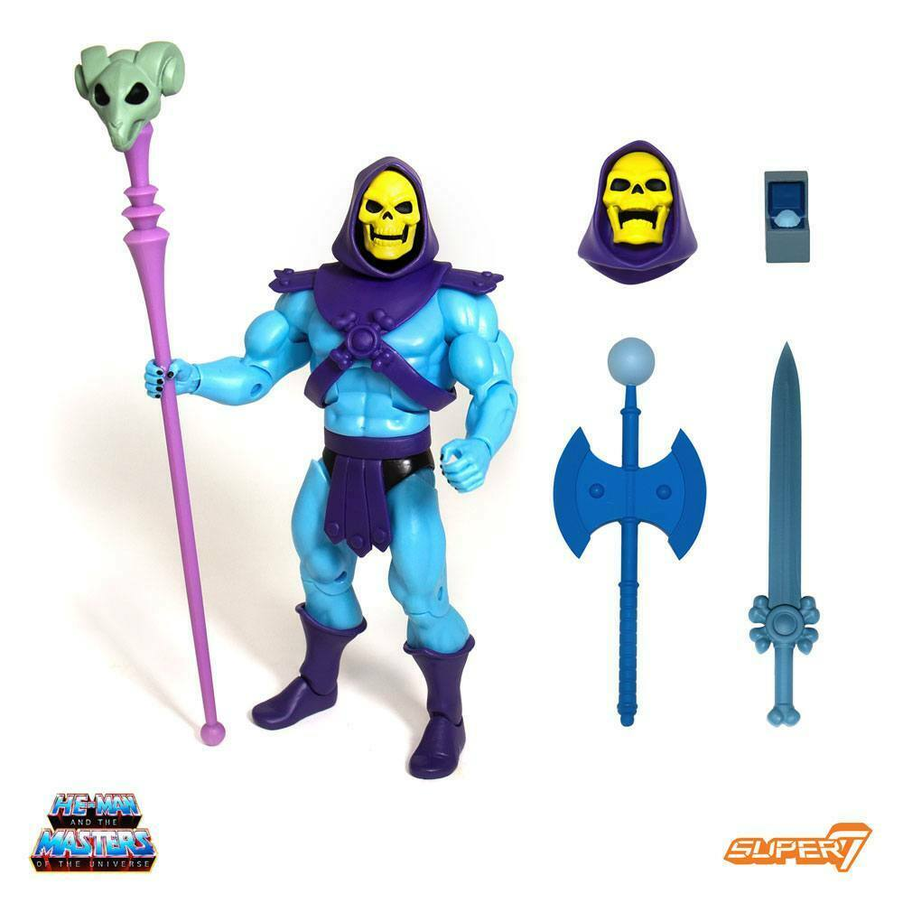 MASTERS of the UNIVERSE SKELETOR CLUB grauSKULL 18cm Action Figures SUPER 7