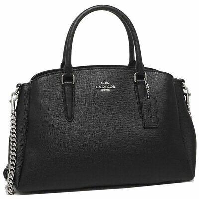 NWT Coach F28976 Crossgrain Leather Sage Carryall Handbag Color Black $395