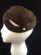 Martin Belasco Ladies Felt hat covered with Satin Crepe(?) and Hat Pins